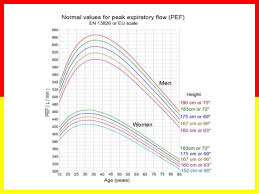 Normal Peak Flow Chart Pediatrics Asthma Basics
