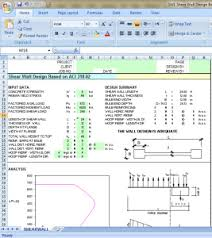 Small Picture Shear wall Design Excel sheet based on ACI 318 02 Civil Engineers PK