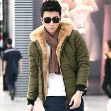 fur lined parka mens winter jacket men parkas hombre down jackets hoo wadded cotton padded coat in from fleece hooded