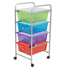 Amazon.com: Mind Reader Rolling Storage Cart and Organizer with 4 Plastic Drawers: Home \u0026 Kitchen
