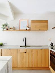 beautiful modern wood kitchen cabinet design 35