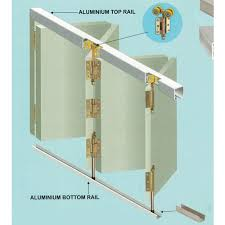 sliding folding system for side hung doors