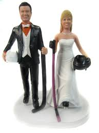 322 best wedding cake topper sports, professions images on Wedding Cake Toppers Ginger Groom hockey players wedding cake topper sculpted to look like the bride and groom ! Funny Wedding Cake Toppers