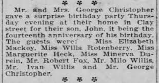 John Davidson Christopher birthday party - Newspapers.com
