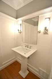 Bathroom Crown Molding Cool Powder Room Transformed With White Molding On Walls Moldings