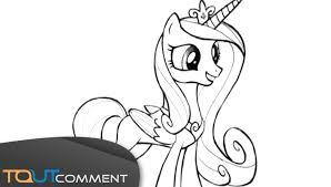 Dessiner Princesse Cadence De Mon Petit Poney Youtube