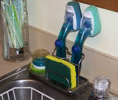 kitchen caddy sink organizer kitchen scrub brush holder sink caddy