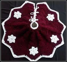 Christmas Tree Skirt Crochet Pattern New Snowflake Christmas Tree Skirt Crochet Pinterest Crochet Tree