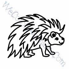 Small Picture Porcupine Coloring Pages