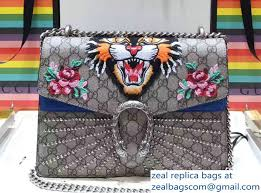 gucci 403348. gucci embroidered dionysus leather shoulder medium bag 403348/400235 angry cat and crystal rays 2017 403348