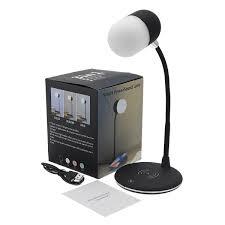 3 In 1 Qi Draadloze Oplader Led Lamp Bluetooth Luidspreker Voor