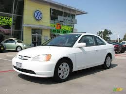 2002 Taffeta White Honda Civic EX Coupe #17743870 | GTCarLot.com ...