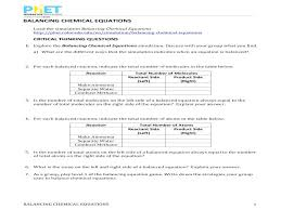 chemistry worksheets balancing equations grade 9 chemical practice worksheet with answers