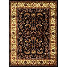 home dynamix royalty black ivory 8 ft x 10 ft indoor area rug