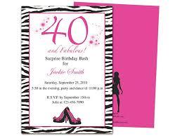 40th Birthday Invitations Free Templates Fabulous 40th Birthday Party Invitation Template 40th