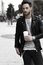 how to wear a leather jacket leather jacket outfits style looks for men