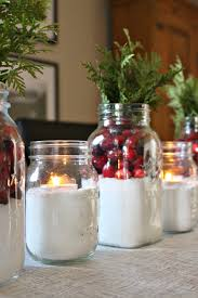 Decorations Using Mason Jars Easy Cranberry Snow Centerpiece Dans le Lakehouse 22