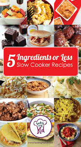 easy home cooked dinner ideas. 5 ingredients or less slow cooker recipes easy home cooked dinner ideas