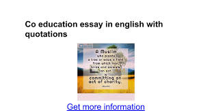 co education essay in english quotations google docs