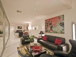 room decor narrow ideas long narrow living room with black leather sofa and white paint color