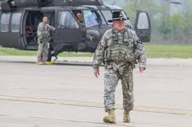 Flight Warrant Officer Chief Warrant Officer Makes Final Flight In Black Hawk Helicopter