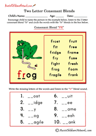 Our phonics worksheets offer the beginning stage of making the connection by identifying the first letter of the names of each. Two Letter Blends Aussie Childcare Network
