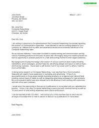 Cover Letter Sample Job Not Advertised Write 1 – Banri