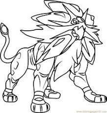 Pokemon Sun And Moon Coloring Pages Legendaries Printable Coloring