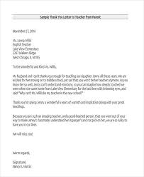 Sample Of A Thank You Letter Thank You Letter To Professor Awesome 13 Sample Teacher