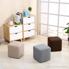bedroom stool chair. Wonderful Bedroom New Cloth Small Square Stool Cotton And Linen Fashion Solid Wood  Creative Living Room Bedroom Sofa Chair  Throughout