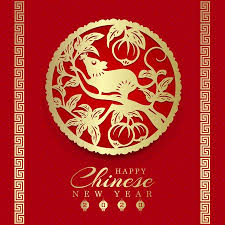 chinese new year card 2020 happy chinese new year 2020 card with gold paper cut art rat