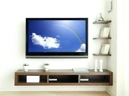 wall tv shelf wall mount shelves ideas throughout shelf plan