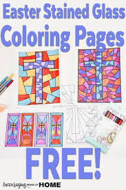 Free Stained Glass Coloring Pages And