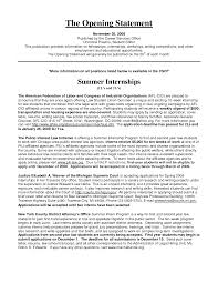resume opening statement example service resume resume opening statement example resume objective statement examples money zine resume example hobbies business finance resume