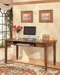 large home office desk. Hamlyn - Medium Brown Home Office Large Leg Desk