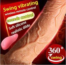 Wireless Sounds Control <b>Swing</b> Vibrating <b>Soft Silicone Big</b> Dildo ...