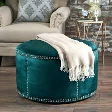 teal ottoman coffee table upholstered coffee table ottoman round coffee