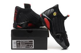 jordan shoes for girls black and red. girls air jordan 14 retro gs last shot black-red on sale-5 shoes for black and red l