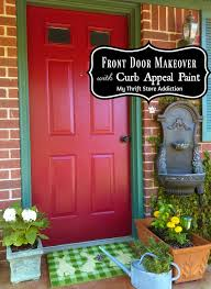 front door curb appealMy Thrift Store Addiction  Front Door Makeover Featuring Curb