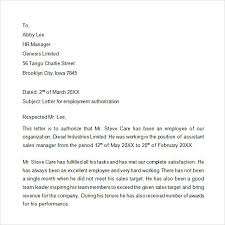 Employment Verification Letter Template Word | Template Business