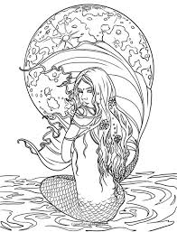 Small Picture Adult Mermaid Coloring Pages Mature Colors