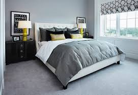 yellow and gray bedroom: cheerful elegant gray and yellow bedrooms