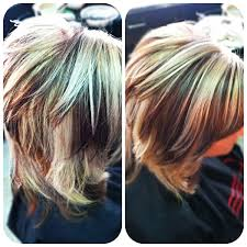 Brown And Blonde Highlights Short Hair Hairstyle Picture Magz