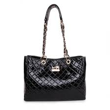 Coach Rhombic Medium Black Shoulder Bags BCK