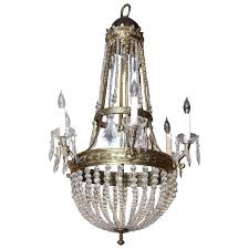 bronze and crystal chandeliers large french empire style bronze and crystal chandelier with six lights for bronze and crystal chandeliers