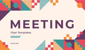 Best Meeting Flyer Design Free Meeting Flyer Templates Tumli