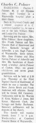 Obituary for Charles C. Palmer (Aged 86) - Newspapers.com