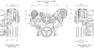 gm ls pulley kit alternator only ls1 ls2 ls3 ls6 tdmotion ls gm dims serpentine