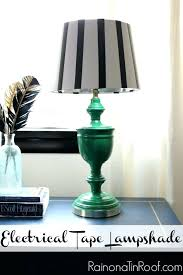 gallery of black and white striped lamp red large size of luxurious shade 1