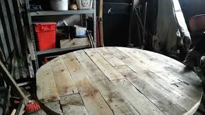 Wood Pallet Table Top Making A Palletwood Table Top Youtube